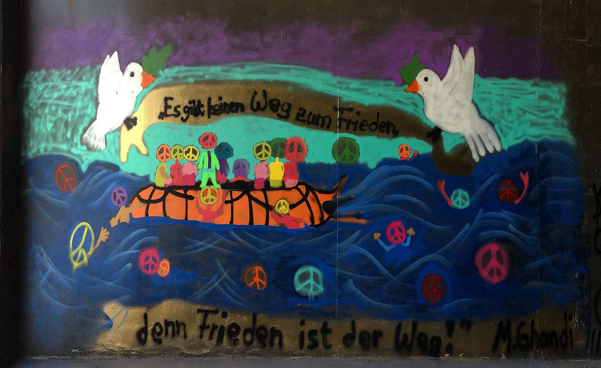 Campus Berlin - Graffiti - Internationaler Tag des Friedens